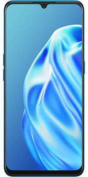 OPPO A91 Blauw Voorkant