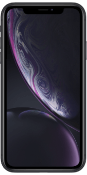 Apple iPhone Xr Zwart Voorkant