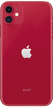 Apple iPhone 11 Rood achterkant